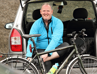 This rider looks delighted to have completed the Tour of Strangford