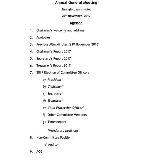 agm agenda 2017