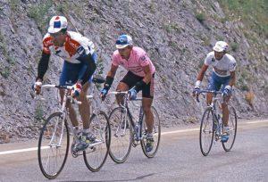 Giro d'Itaia 1994 - Miguel Indurain (Banesto) - Eugeni Berzin (Gewiss) - Marco Pantani (Carrera) - BettiniPhoto©2010