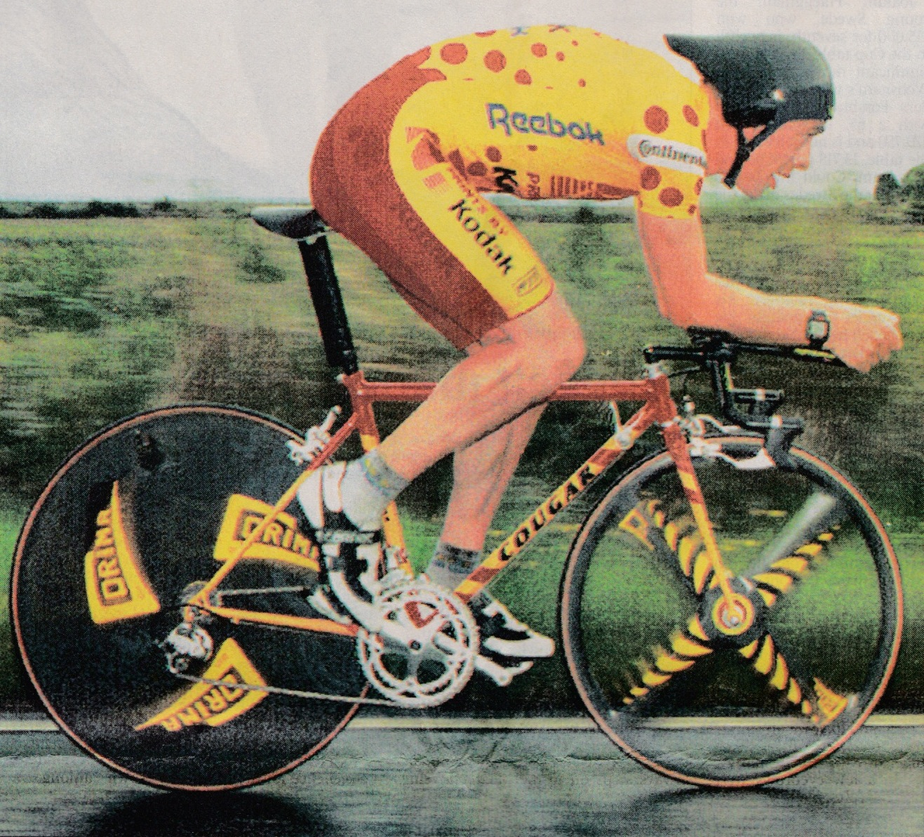 Chris Board (Kodak) set the previous record of 49:36 in 1993 (photo - The Times)
