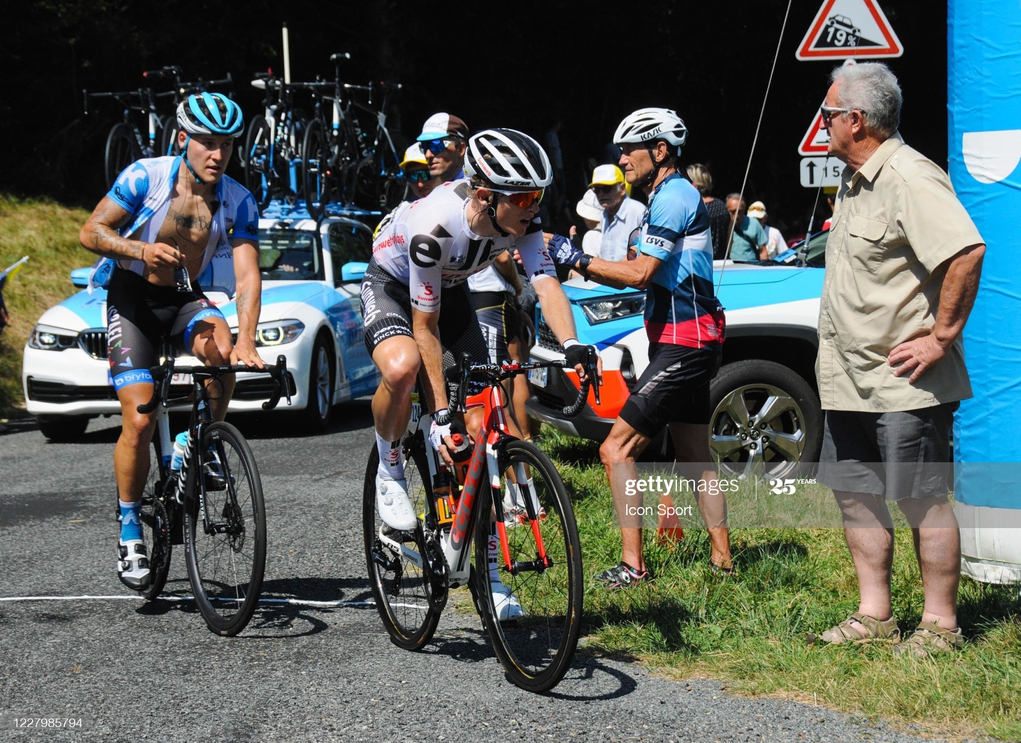 Martin Salmon of Team Sunweb at montee de la Selle de Fromentel. during the Tour de l'Ain - stage 3 from Saint Vulbas to Grand Colombier on August 9, 2020 in UNSPECIFIED, Unspecified. (Photo by Jean Michel Bancet/Icon Sport via Getty Images)