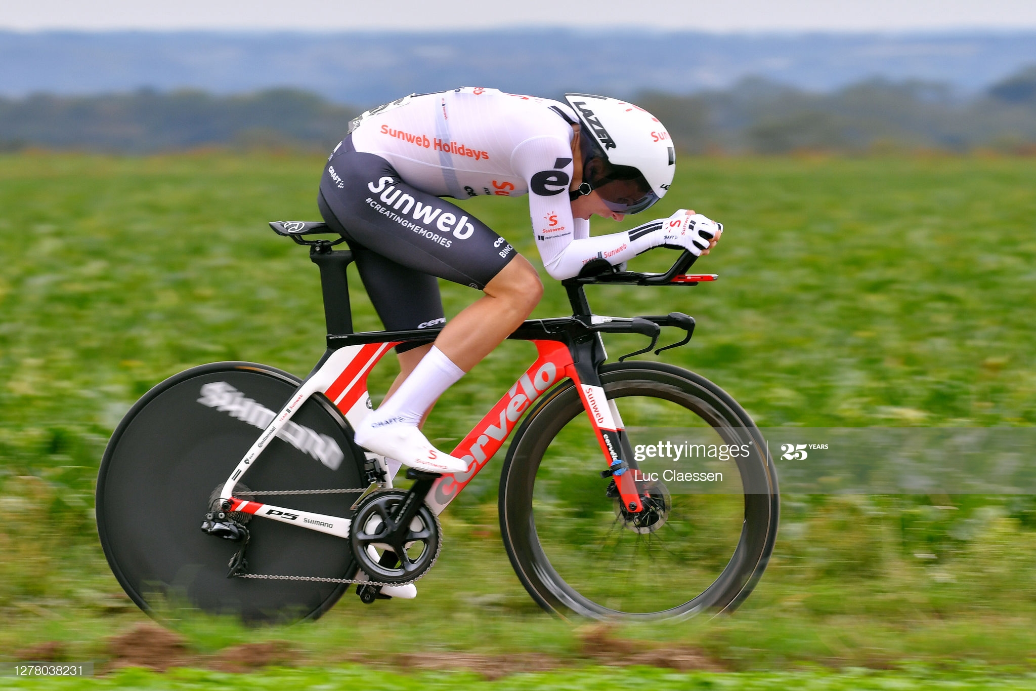 RIEMST, BELGIUM - OCTOBER 02: Martin Salmon of Germany and Team Sunweb / during the 16th BinckBank Tour 2020, Stage 4 a 8,14km Individual Time Trial from Riemst to Riemst / ITT / @BinckBankTour / #BinckBankTour / on October 02, 2020 in Riemst, Belgium. (Photo by Luc Claessen/Getty Images)