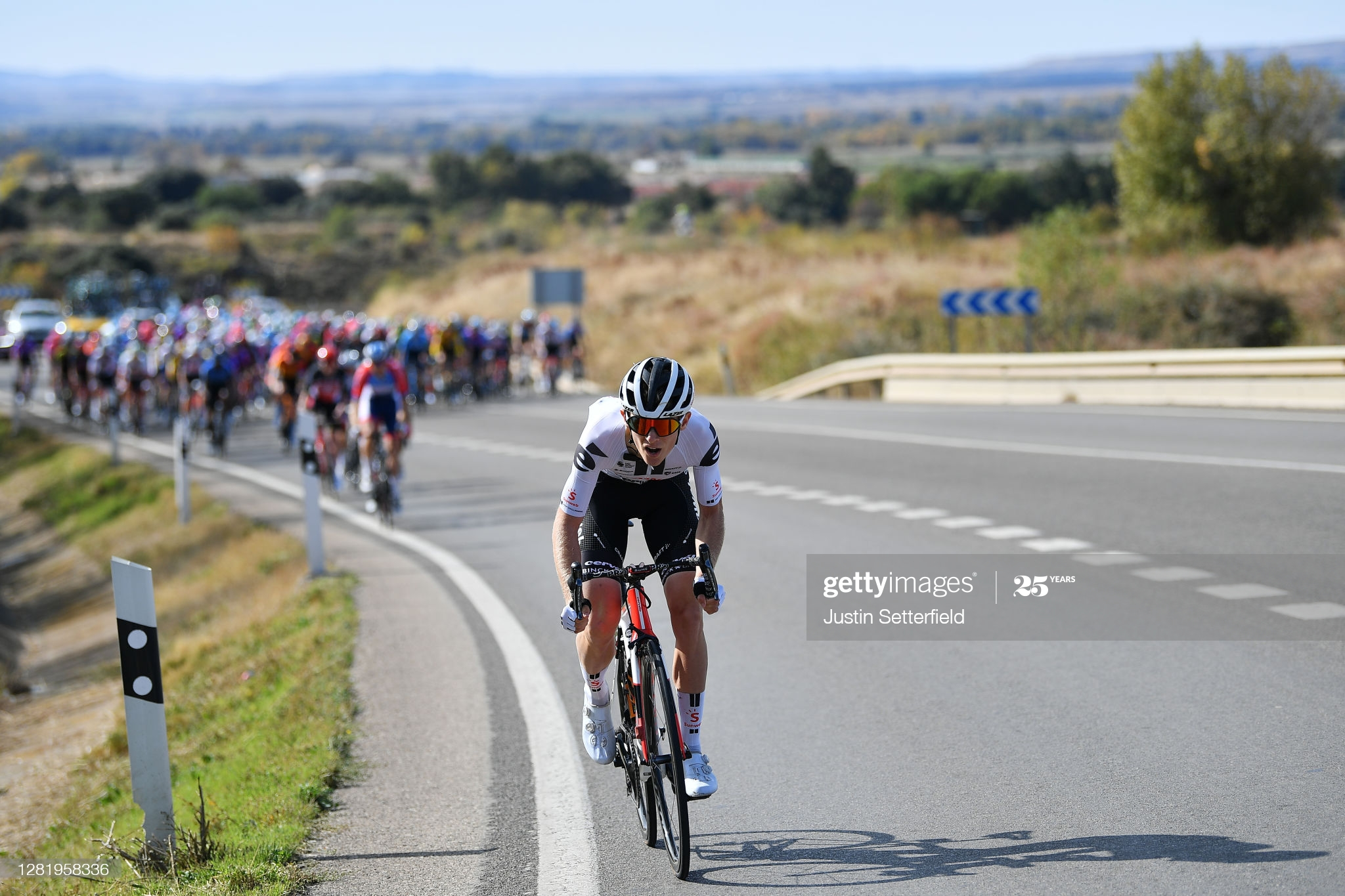SABIÑANIGO, SPAIN - OCTOBER 24: Martin Salmon of Germany and Team Sunweb / during the 75th Tour of Spain 2020, Stage 5 a 184,4km Huesca to Sabiñánigo 835m / @lavuelta / #LaVuelta20 / La Vuelta / on October 24, 2020 in Sabiñánigo, Spain. (Photo by Justin Setterfield/Getty Images)